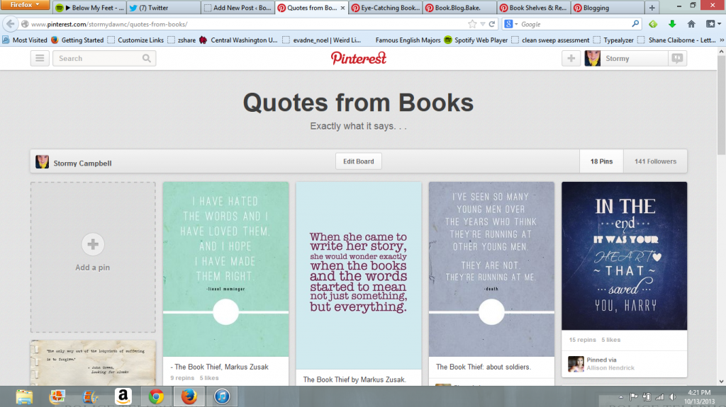 Quotes from Books board
